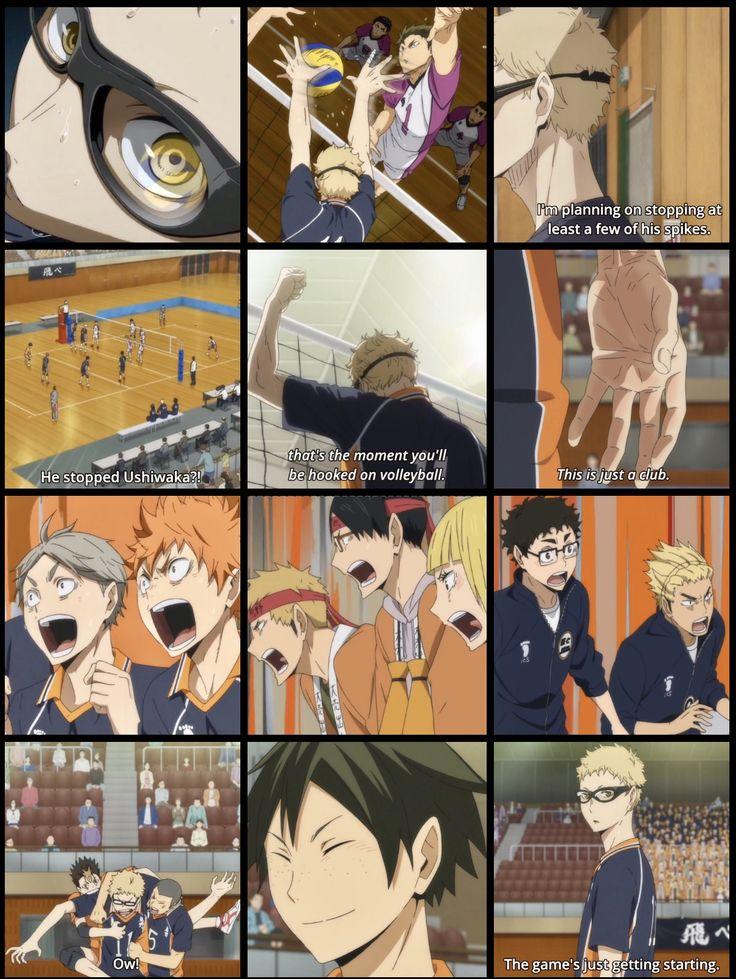 Haikyuu!! | Karasuno vs. Shiratorizawa episode 4 AHHHHHHH I LOVED THIS SO MUCH TSUKKI MY BABY
