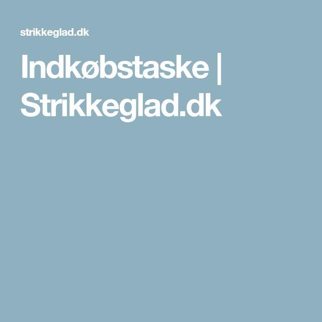 Indkøbstaske   Strikkeglad.dk