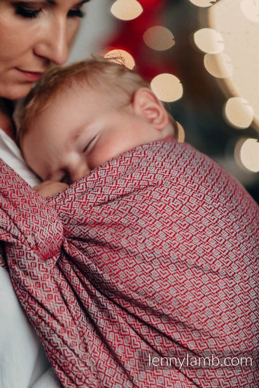 BABY WRAP, JACQUARD WEAVE (100% COTTON) - LITTLE LOVE - MAGICAL MOMENTS