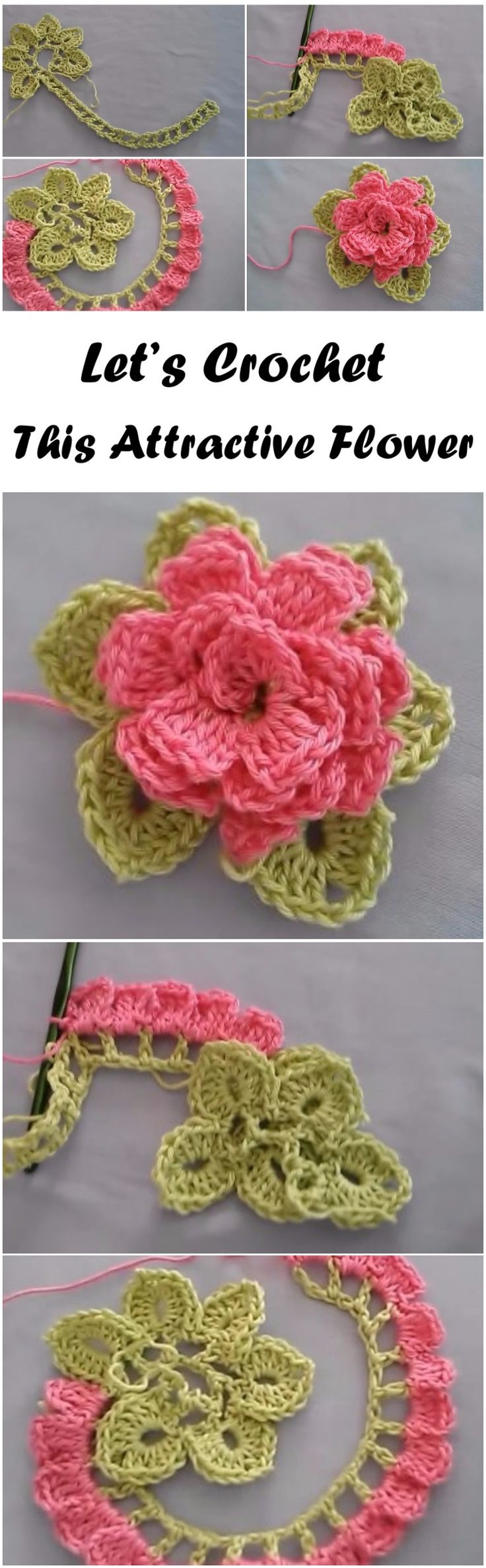 102 Best Croche Flores Images On Pinterest Crocheted Flowers Rose Crochet Crochetflowers Pretty Flower Diagram This Attractive Step By
