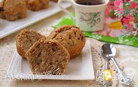 Мраморные кексы с шоколадом