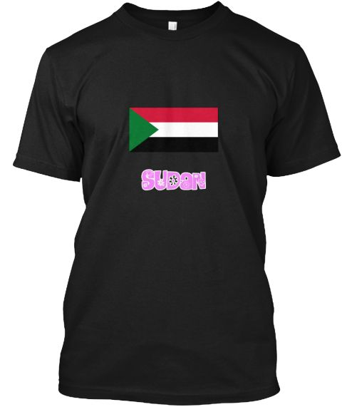 Sudan Flag Pink Flower Design Black T-Shirt Front - This is the perfect gift for someone who loves Sudan. Thank you for visiting my page (Related terms: I Heart Sudan,Sudan,Sudanese,Sudan Travel,I Love My Country,Sudan Flag, Sudan Map,Sudan Language, Su #Sudan, #Sudanshirts...)