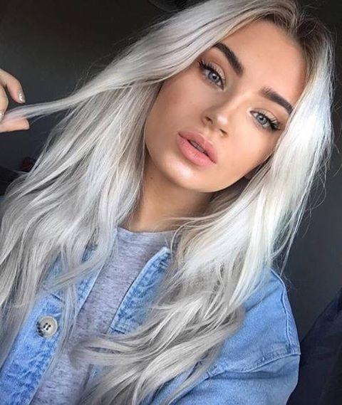 cabelo platinado em morenas branco | Cabelos ♥ in 2019 | Pinterest | Hair, Blonde hair and Hair styles