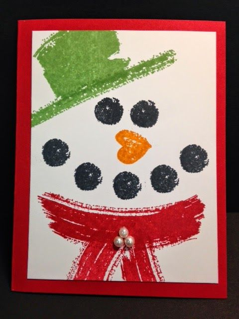 Work of Art, Snowman Card, Stampin' Up!, Rubber Stamping, Handmade Cards