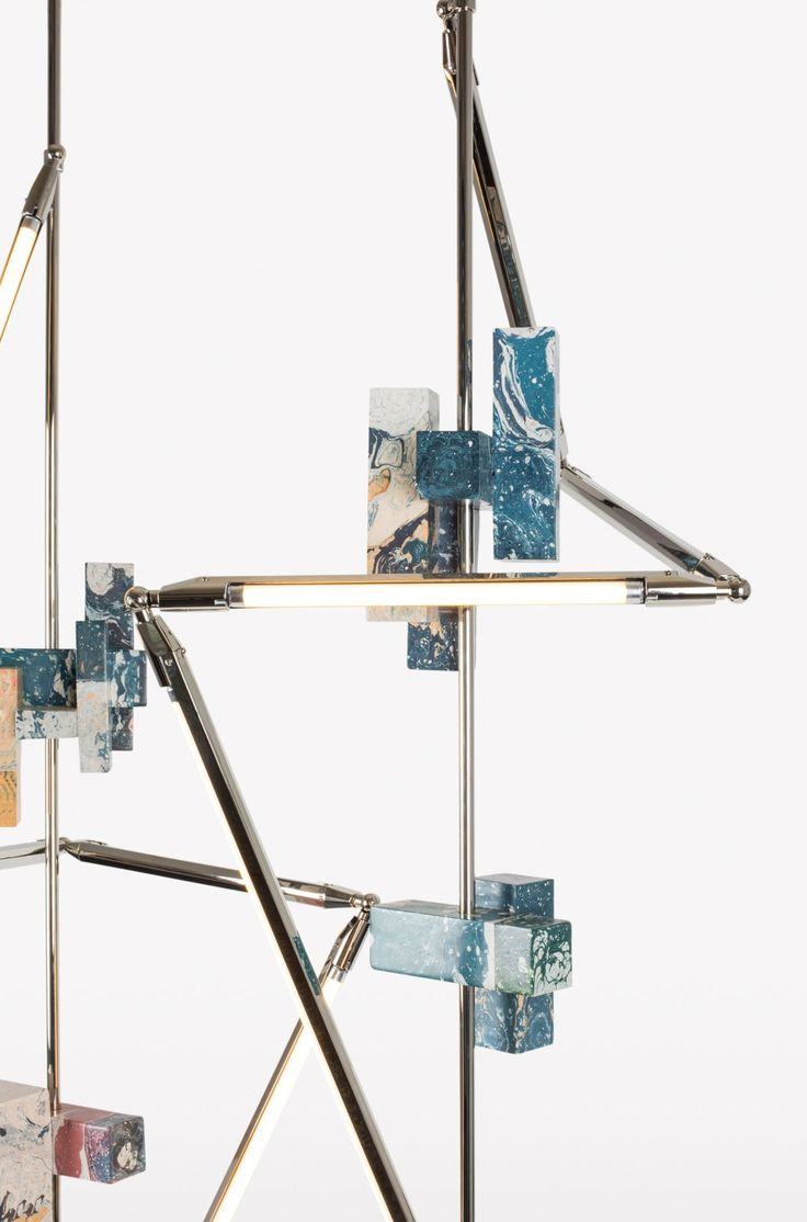 Sculptural Geometric Lighting by Bec Brittain & Hilda Hellström | Yellowtrace