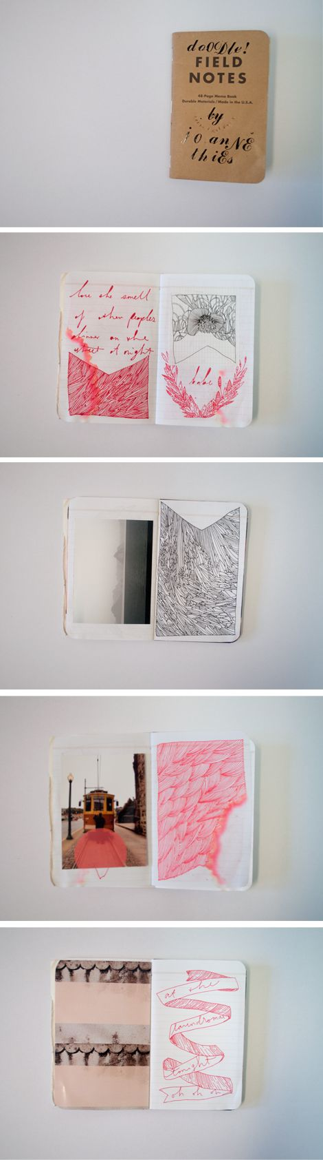 Sketchbook, doodle book, field notes, pattern, mark making, lettering, illustration