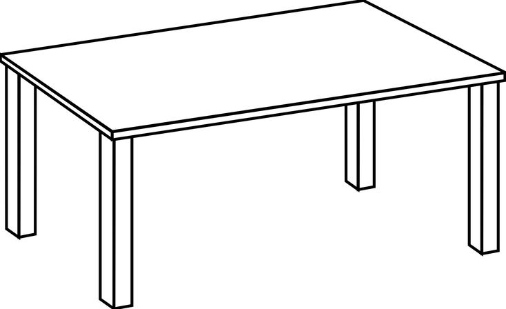 Download And Share Clipart About Picnic Table Clipart Black And White Clipartfest Table White And Black Find More Hig Line Art Clipart Black And White Table