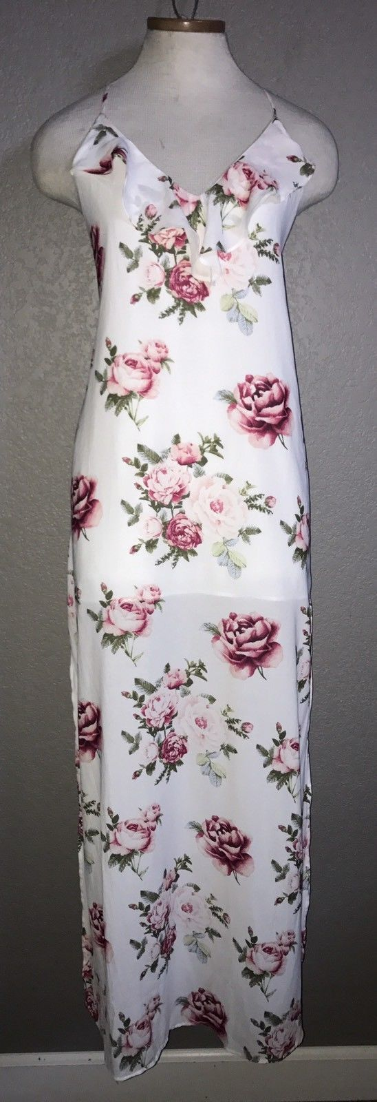 Awesome Awesome MUST SEE Forever 21 Sexy White Floral Backless Maxi Dress Size M  2017-2018