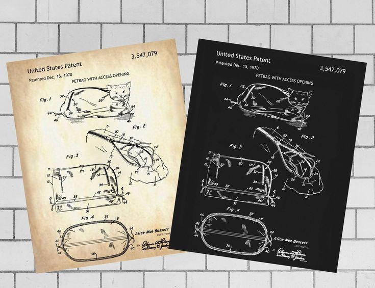 Petbag, Haustiergeschirr, Haustier Patent Print, INSTANT DOWNLOAD, Haustier druckbare, Haustier Pri …   – Patent