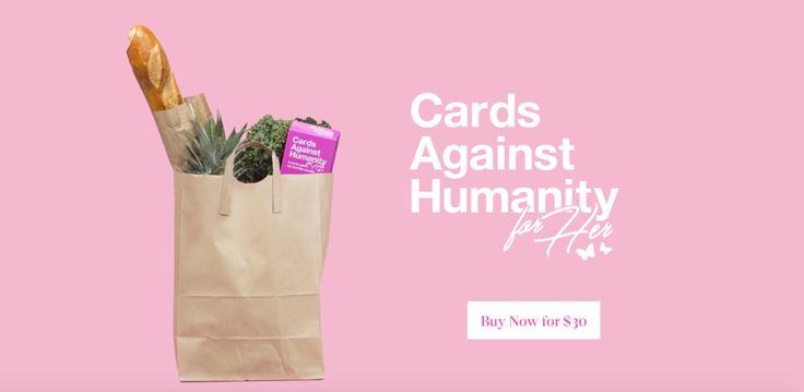 Tarjetas De Lesa Humanidad Para Ella Es Exactamente El Mismo Juego, Viene En Caja Rosa, Y Es De $5 Más