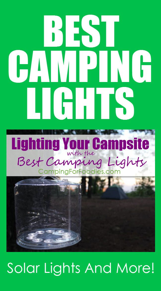 Lighting Your Campsite With The Best Camping Lights! Using the sun to power your lighting device is genius! Check out these Solar Powered Camping Lights! The best camping lights include solar powered, battery powered, string lights and more!  Super healthy living!