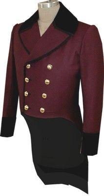 Civilain Tailscoat (Tail Coat) 1835-1845 style, 19th Century (1800s) Clothing