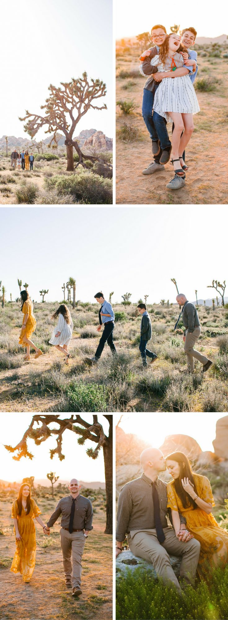 Desert Bohemian Family Photo Shoot in Joshua Tree National Park, California