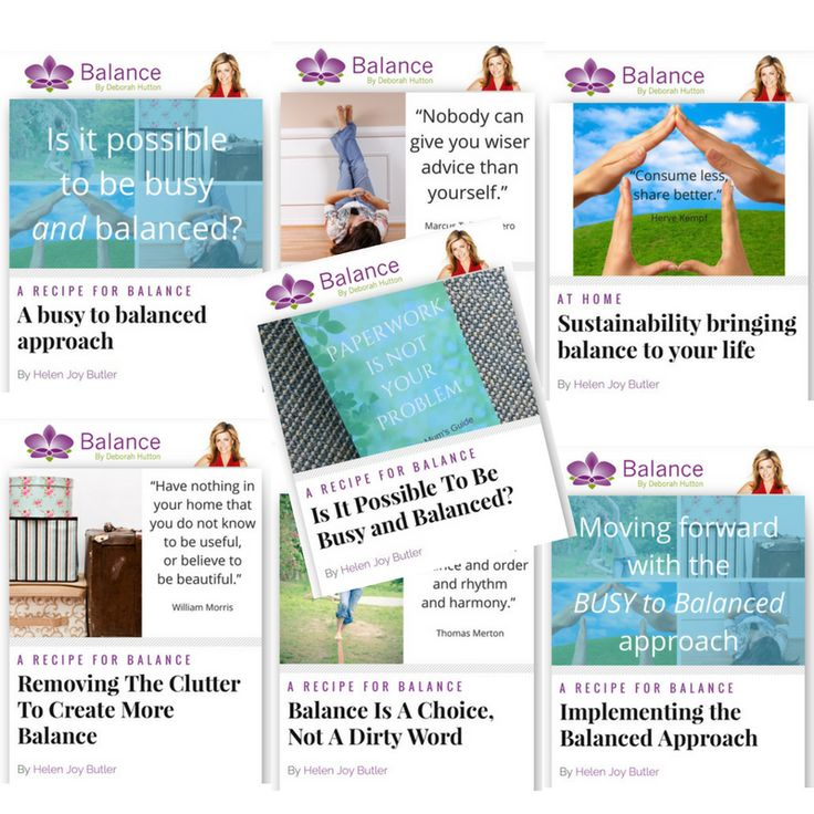 Last week I shared seven articles on the Balance By Deborah Hutton website on the BUSY to Balanced approach. They're all here for you in one place - I hope you enjoy them. Xx