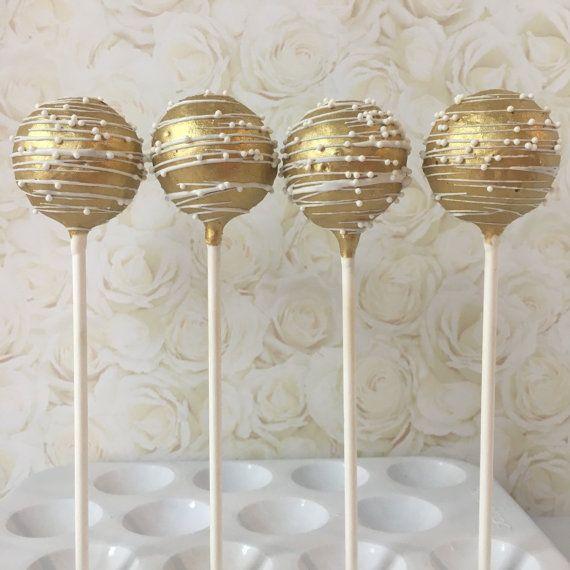 Gold und weiße Kuchenknalle   – creative me