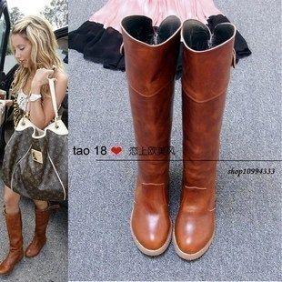 2014 botas novas Equitação chegada do vintage da moda botas botas de couro fivela de mulheres motociclistas US $41.00 - 45.00