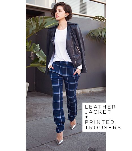 Plaid trousers looking anything but retro