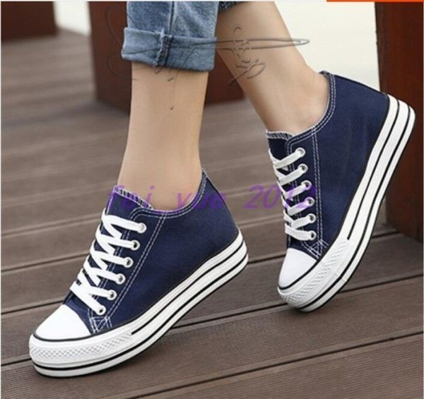 Preppy style Womens Fashion Lace Up High Top Sneakers Canvas Flats sport Shoes