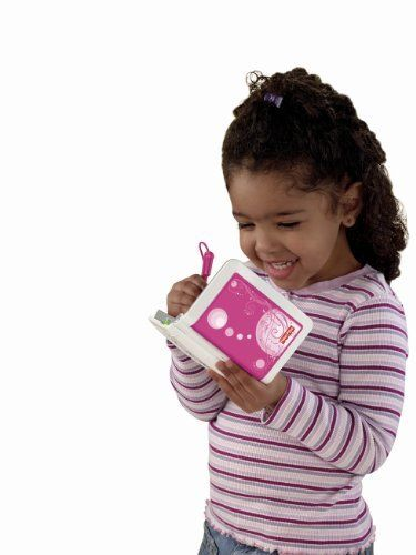 """Fisher-Price iXL 6-in-1 Learning System (Pink) by Fisher Price. $46.49. 6 ways to play: Digital Reader, Game Player, Note Pad, Art Studio, MP3 Player and Photo Viewer. Opens like a book, exposing a 3.5"""" TFT QVGA color screen. iXL is the ultimate handheld learning tool designed for kids. Comes with pre-loaded software for the various applications. To see more information click the """"Watch it in Action"""" link below the main product images. Amazon.com               ..."""