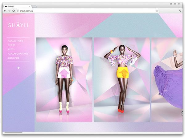 Corporate Design, Website, SHAYLI, Shayli Harrison's Melbourne–based fashion label, by Aldous Massie, digital, interactive