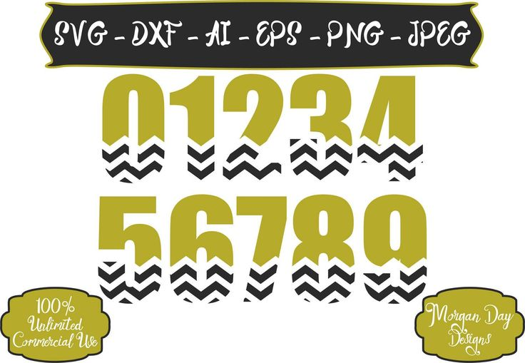 First Birthday SVG - Chevron Number SVG - Chevron Birthday SVG - Birthday Number svg - Files for Silhouette Studio/Cricut Design Space by MorganDayDesigns on Etsy