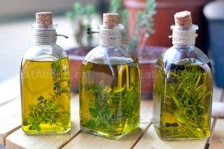Ароматизированное оливковое масло: базилик мелколистный, тимьян лимонный и розмарин с ягодами можжевельника, рецепт и фото