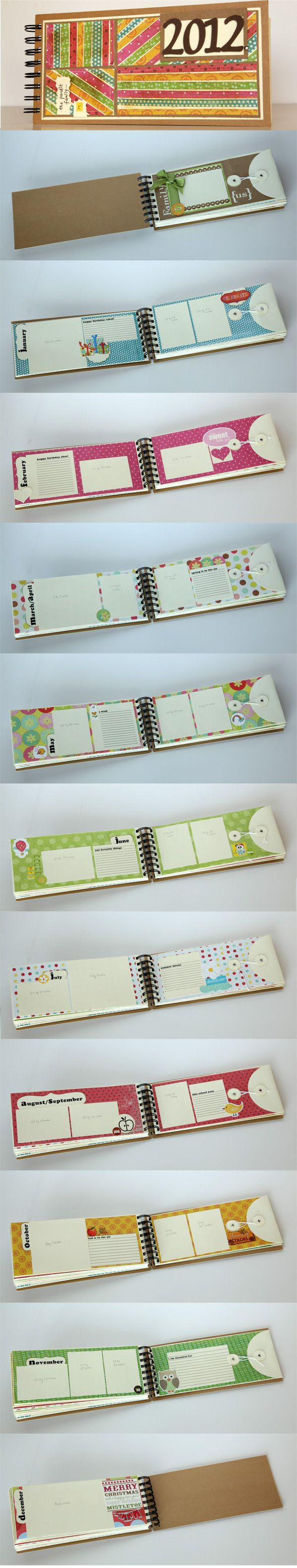 make a 2012 mini book in January.  Fill the pages throughout the year.