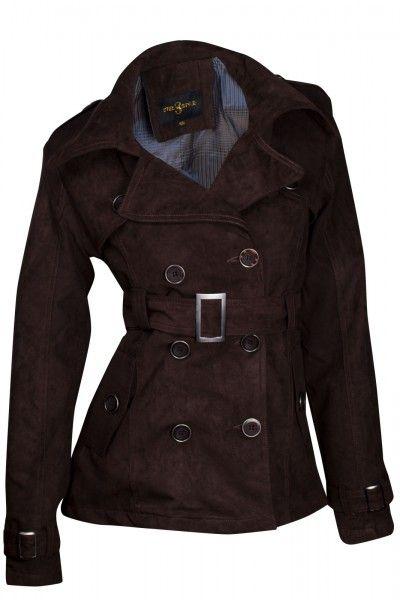 Designer Damen Jacke Übergangsjacke Wildlederimitat Trenchcoat | Jacken | Damen Mode | DeineFashion