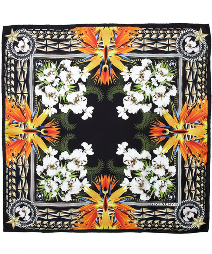 Black Bird Of Paradise Floral Silk Scarf, Givenchy. Shop more from the Givenchy collection at Liberty.co.uk