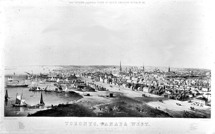 View of Toronto from ancient times