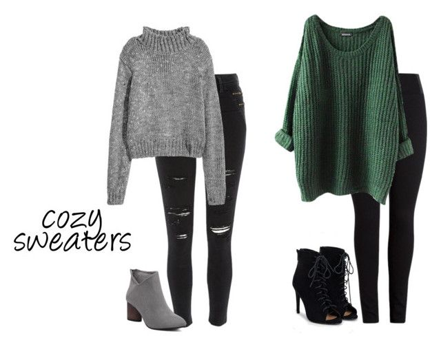 """cozy sweaters"" by bbriii on Polyvore featuring River Island and JustFab"
