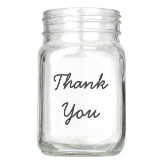 Thank You Typography Handwriting Mason Jar