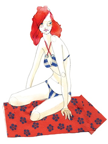 Kat Macleod illustration Bikini, Real Simple Magazine US