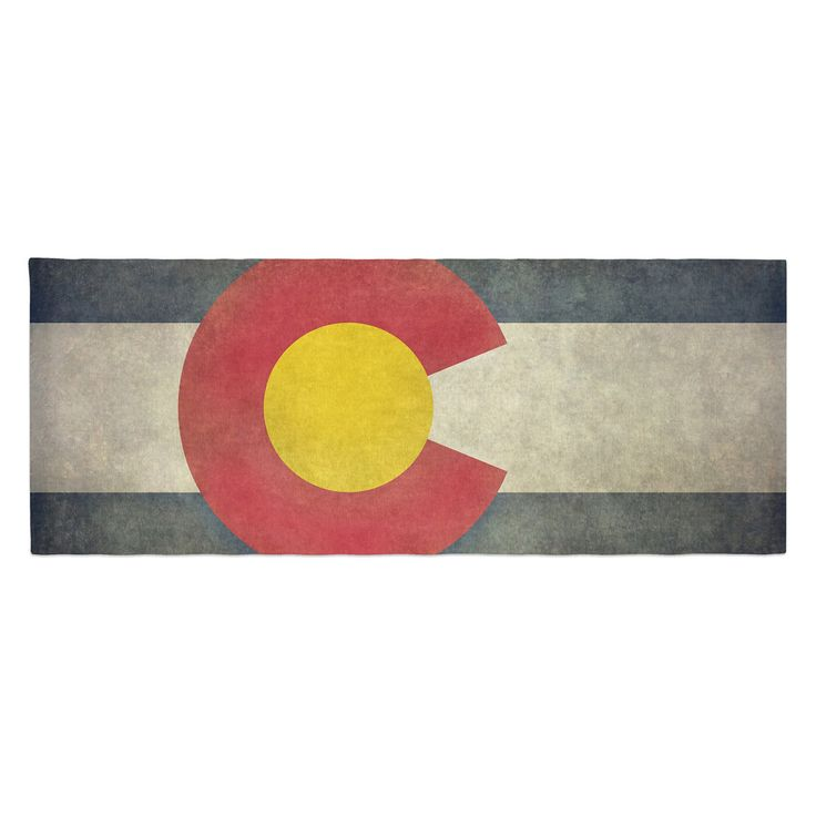 Bruce Stanfield State Flag of Colorado Bed Runner by Kess InHouse - BS1002ABR01
