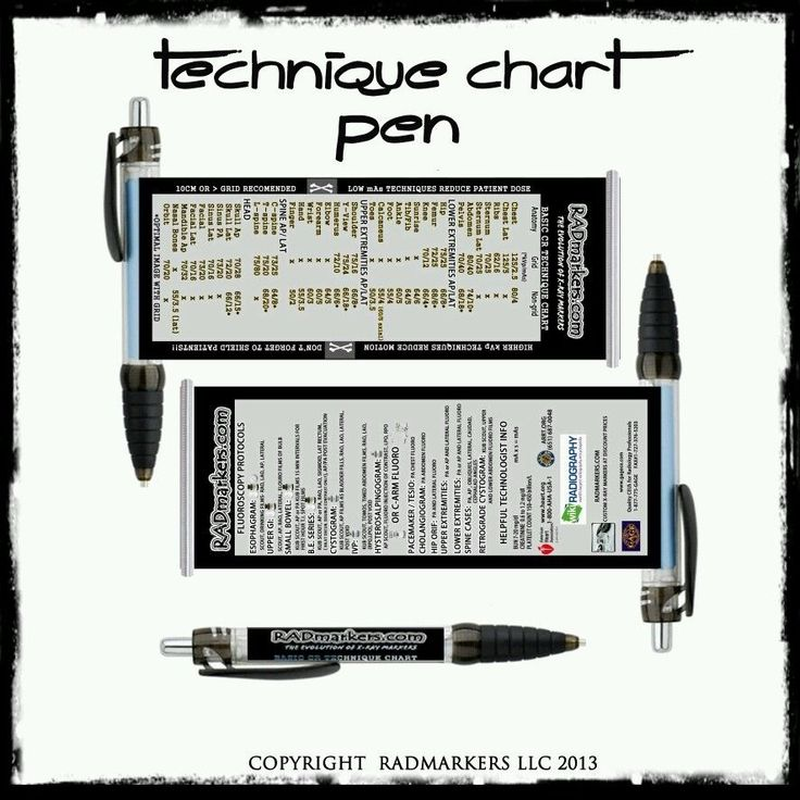 US $7.99 Xray Technique chart pen