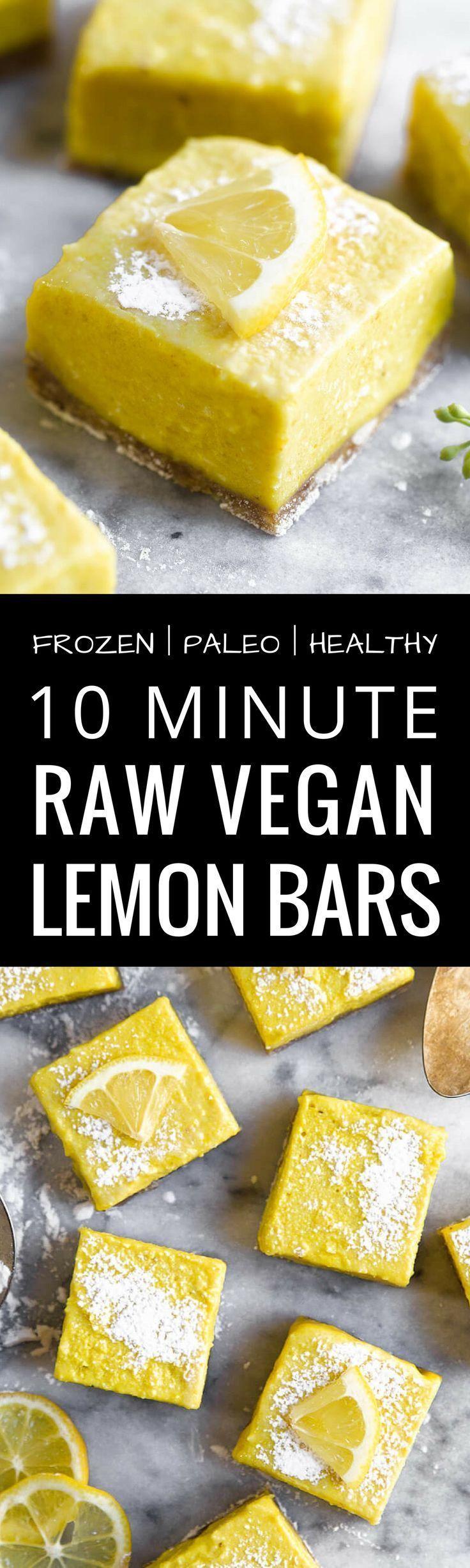 Frozen Raw Paleo Lemon Bars http://healthyquickly.com