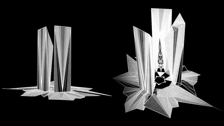 2015(STUDY)-CONCEPTUAL DESIGN-DIAMOND SKYSCRAPERS | Andrzej Ludew | Archinect