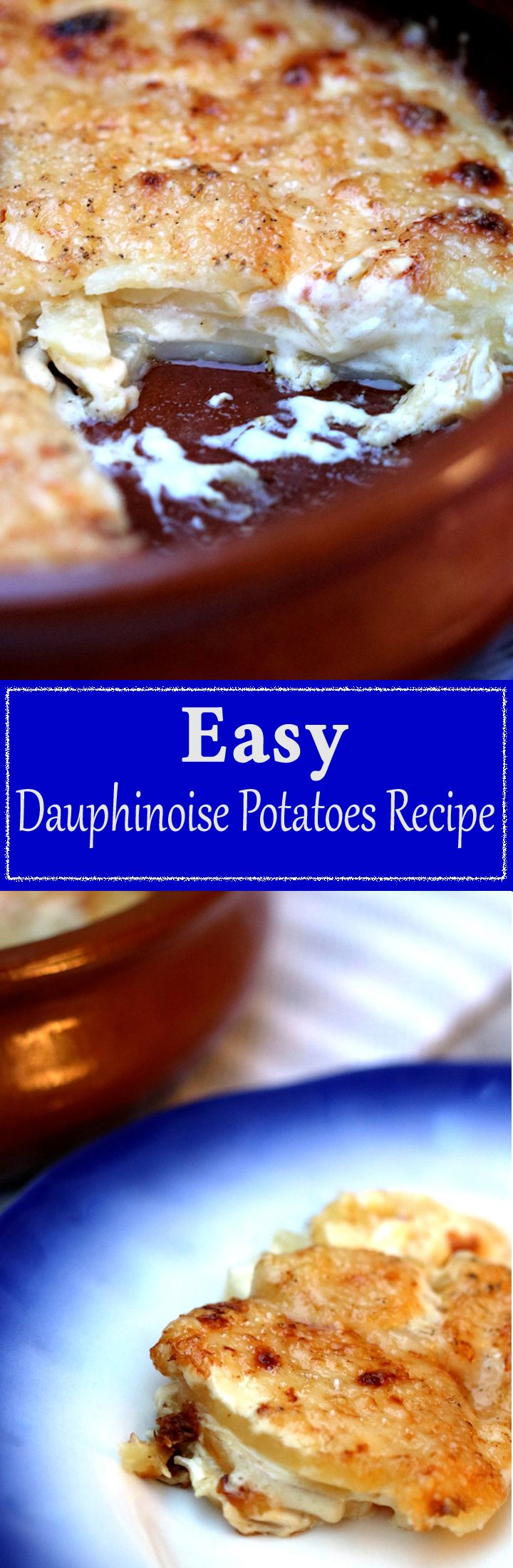 The best potato dish EVER, but so easy to make too! This Dauphinoise potato recipe is so simple, with Gruyere cheese on top too it's out of this world good!!