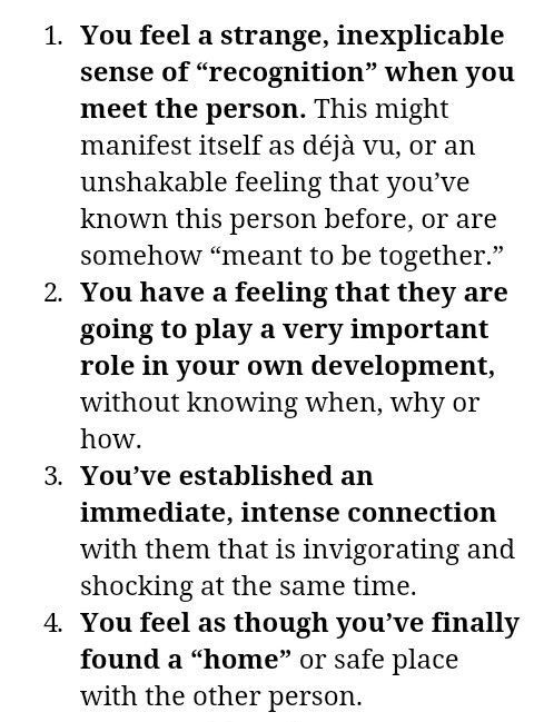 Signs of soul mates