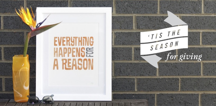 Everything Happens for a Reason #graphicdesign