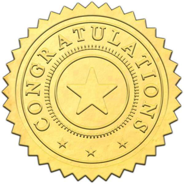 16 Certificate Stamp Png Gold Sticker Paper Ribbon Png Png