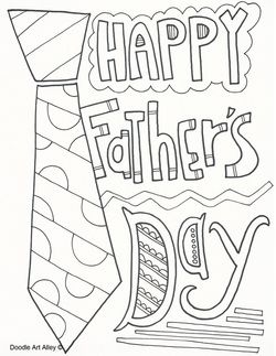Father's Day Doodle Art Coloring Pages