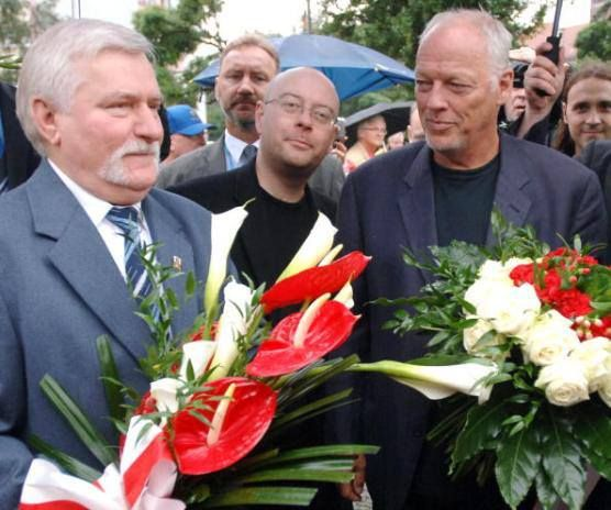 David Gilmour | Pink Floyd | Gdansk Poland w Lech Walesa