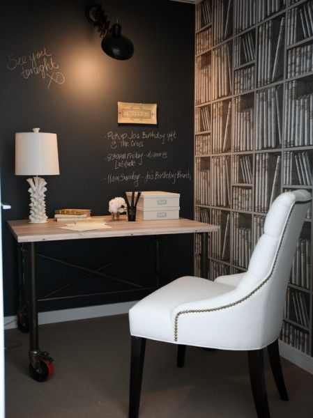 Black and White Chalkboard Office
