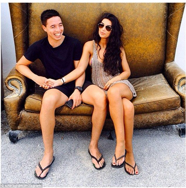 Relaxation: Manchester City midfielder Samir Nasri is on holiday in Ibiza with girlfriend ...