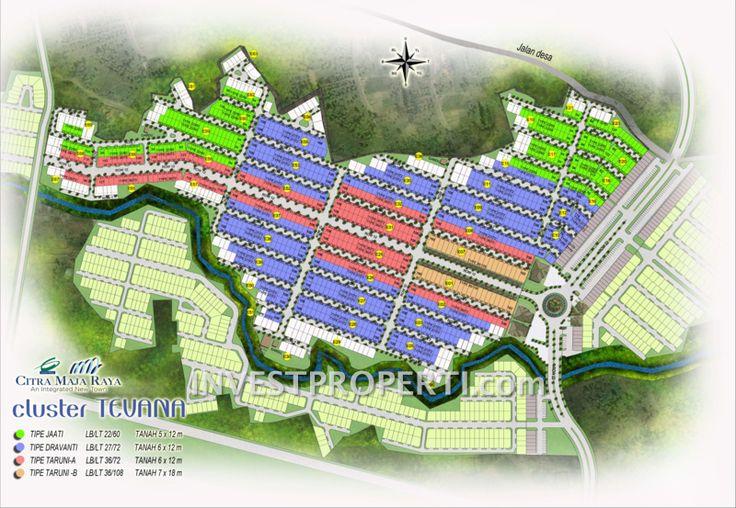 Site Plan rumah cluster Tevana - Citra Maja Raya 2