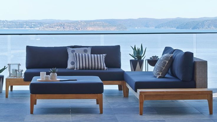 Home :: Outdoor :: Outdoor Lounges :: Modular Lounges :: Grid 3 Piece Outdoor Corner Modular Lounge Setting