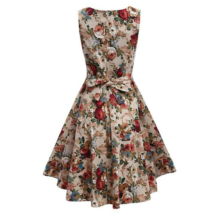 Women summer plus size lace floral Dress vintage vintage floral sleeveless casual vestido de festa club wear dress