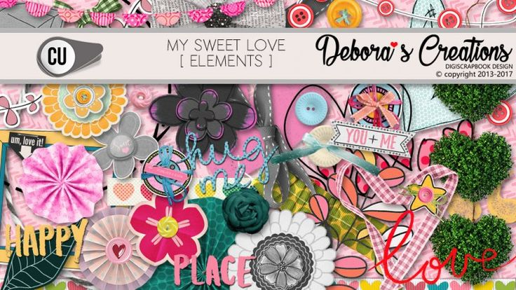 My Sweet Love Elements by Debora's Creations CU