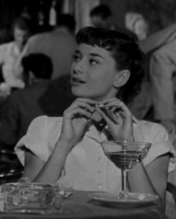 Charming Audrey in Roman Holiday, one of my favorites